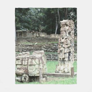 Mayan Ancient Ruins of Copan City Honduras Color Fleece Blanket