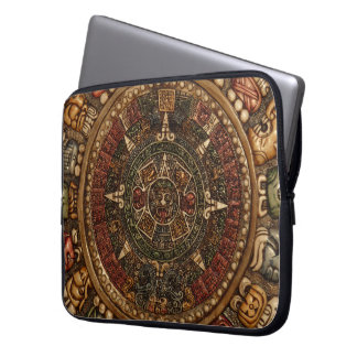 Mayan and Aztec Calendar by Grassrootsdesigns4u Laptop Sleeve