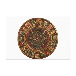 Mayan and Aztec Calendar (Multiple Products) Canvas Print