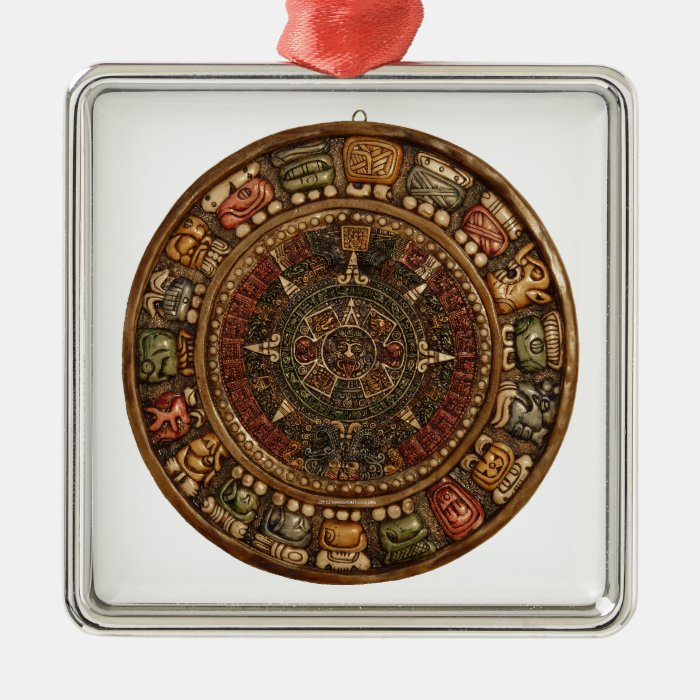 Mayan and Aztec Calendar (Multiple Products) Metal Ornament