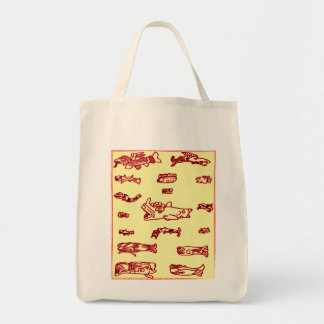 Mayan Animals Design Grocery Tote Bag
