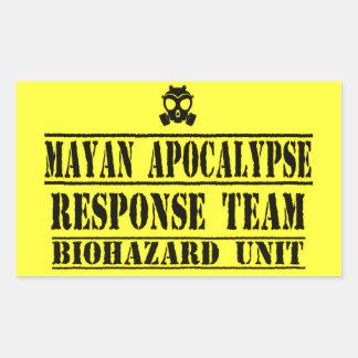 Mayan Apocalypse Response Team Rectangular Sticker