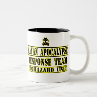 Mayan Apocalypse Response Team Two-Tone Coffee Mug