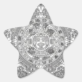Mayan Apocalypse Star Sticker