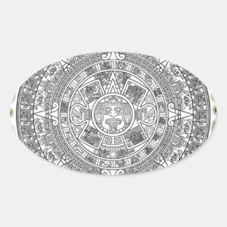Mayan Apocalypse Oval Stickers