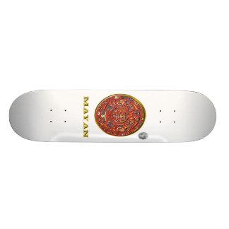 Mayan art skateboard deck