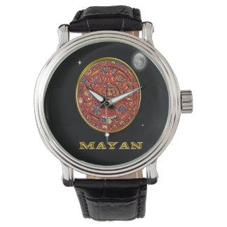 Mayan art wrist watch