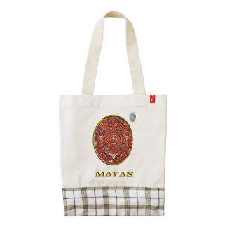 Mayan art zazzle HEART tote bag