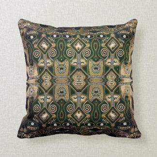 Mayan Aztec abstract designer contemporary cushion