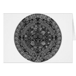 Mayan Aztec Calendar (black) 12.21.2012 Card