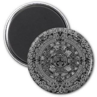 Mayan Aztec Calendar (black) 12.21.2012 Magnet