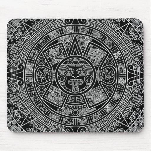Mayan Aztec Calendar (black) 12.21.2012 Mousepads