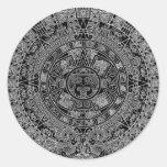Mayan Aztec Calendar (black) 12.21.2012 Stickers