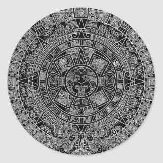 Mayan Aztec Calendar (black) 12.21.2012 Stickers
