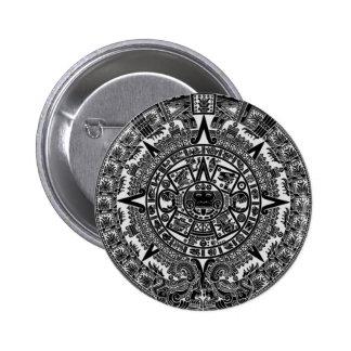 Mayan Aztec Calendar (black) Dec.21, 2012 Button