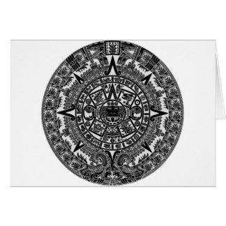 Mayan Aztec Calendar (black) Dec.21, 2012 Card