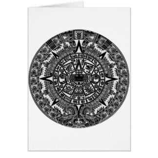 Mayan Aztec Calendar (black) Dec.21, 2012 Card