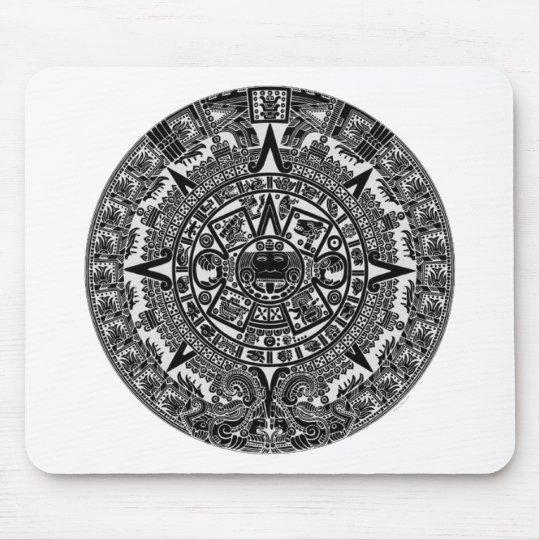 Mayan Aztec Calendar (black) Dec.21, 2012 Mouse Pad