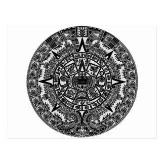 Mayan Aztec Calendar (black) Dec.21, 2012 Postcard