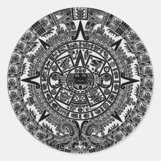 Mayan Aztec Calendar (black) Dec.21, 2012 Stickers