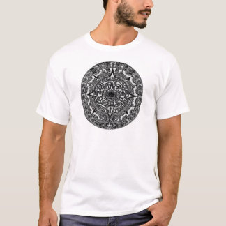 Mayan Aztec Calendar (black) Dec.21, 2012 T-Shirt