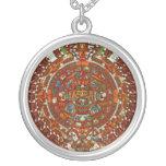 mayan aztec calendar Necklace