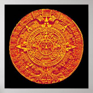 Mayan / Aztec Calendar print