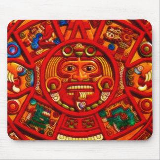 Mayan-Aztec Sacred Sun Calendar Art Mousepad