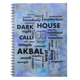 Mayan Aztec Word Cloud Akbal Calli Notebook