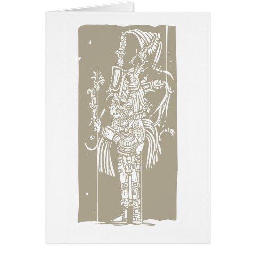 Mayan B Woodblock Cards
