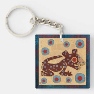 Mayan Baby Jaguar FLARE 2 Sided Keychain