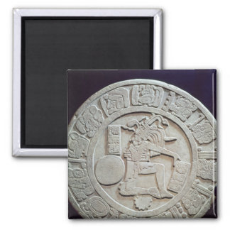 Mayan ball court marker, from Chinkultic 2 Inch Square Magnet