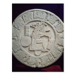 Mayan ball court marker, from Chinkultic Post Card