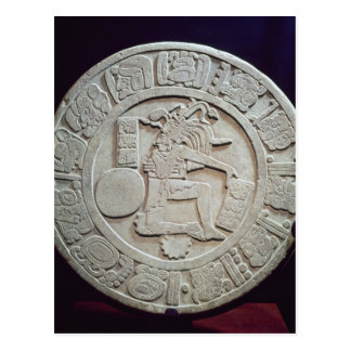 Mayan ball court marker, from Chinkultic Postcard