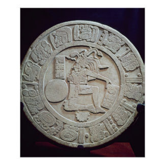 Mayan ball court marker, from Chinkultic Poster