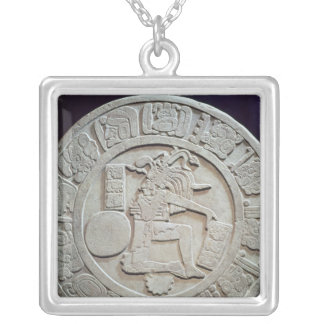 Mayan ball court marker, from Chinkultic Square Pendant Necklace