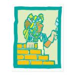 Mayan Bricklayer Postcard