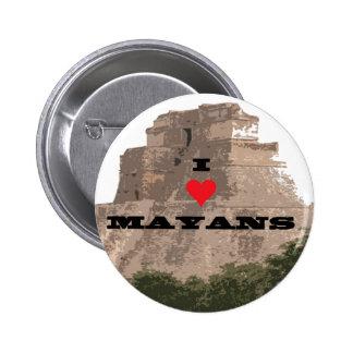 mayan pinback button