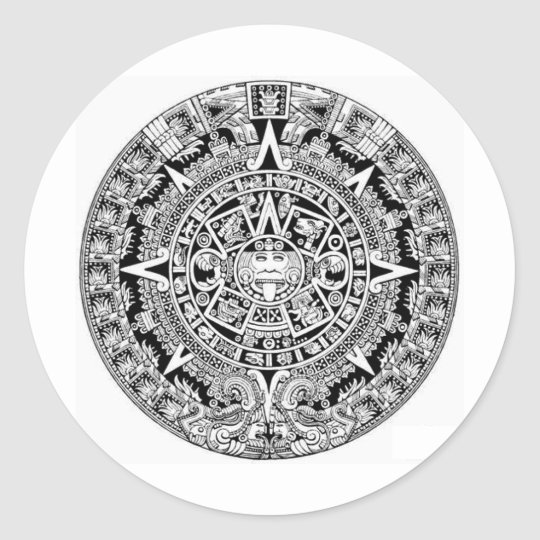 Mayan Calander Classic Round Sticker