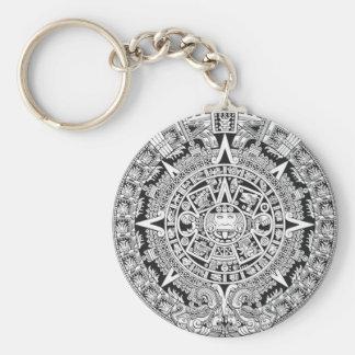 Mayan Calendar 12.21.2012 Aztec Keychain