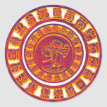 Mayan Calendar 2012 Classic Round Sticker