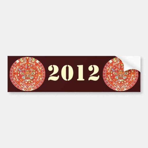 Mayan Calendar 2012 Design Bumper Sticker
