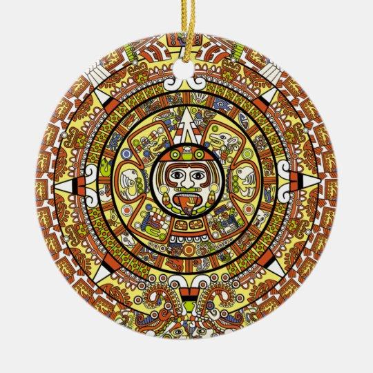 Mayan Calendar 2012 End of the World Prophesy Ceramic Ornament