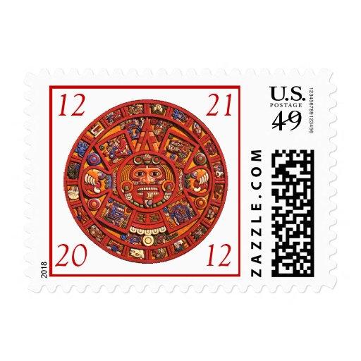 Mayan Calendar 2012 - postage stamps