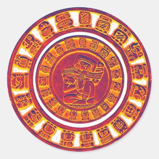 Mayan Calendar 2012 Round Stickers