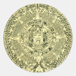 Mayan Calendar 2012 Round Sticker