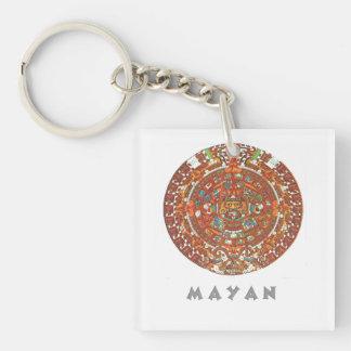 Mayan Calendar Acrylic Key Chains