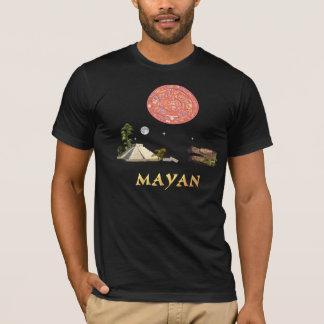 Mayan calendar and temple T-Shirt