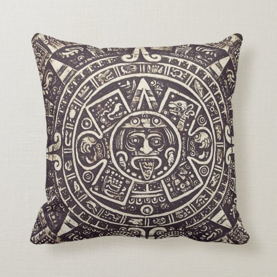 Mayan Calendar Art Throw Pillow