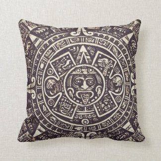Mayan Calendar Art Throw Pillow